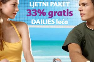 Ljetna promocija DAILIES 33% GRATIS!