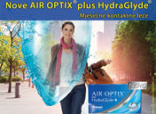 Nove AIR OPTIX plus HydraGlyde mjesečne kontaktne leće!