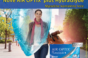Nove AIR OPTIX plus HydraGlyde mjesečne kontaktne leće!