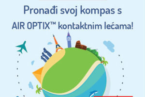 Nagradna igra 'Pronađi svoj kompas s AIR OPTIX ™ kontaktnim lećama!'